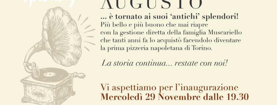 Augusto_ristorante_pizzeria_torino_apertura_invito